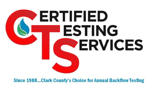 Backflow Testing by Certified Testing Services of Clark County - Home